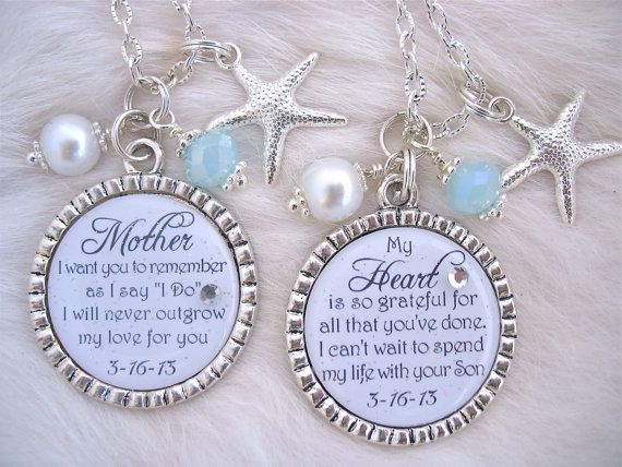 BRIDAL SHOWER GIFT Mother of the Bride Necklace by MyBlueSnowflake