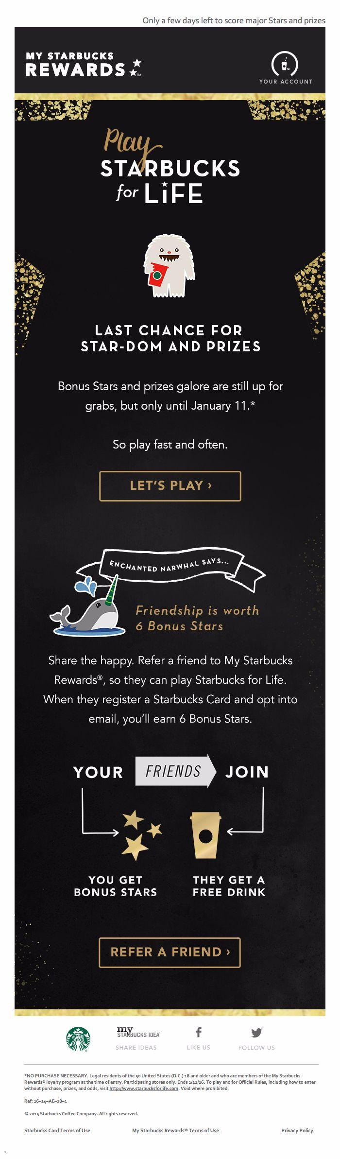 Starbucks: Play Starbucks for Life