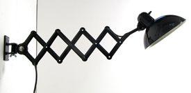 Scissor Lamp - 1940s extending wall lamp by Christian Dell for Kaiser iDell.