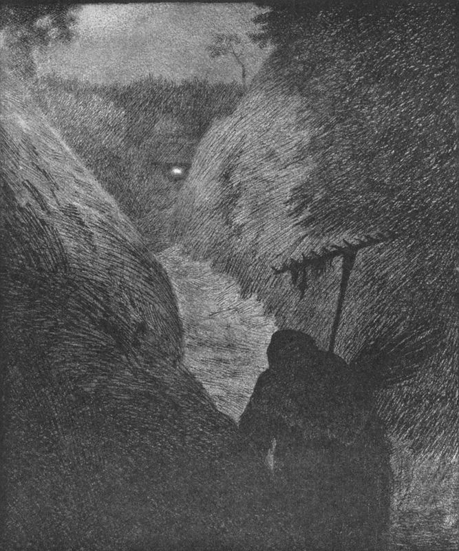 Svartedauen - pesta kommer 01b - Theodor Kittelsen