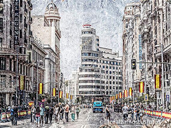 Madrid Gran Vía en Madrid España urbana por Realzamostusfotos
