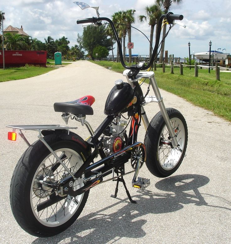 Gas or electric motor bicycles for sale.Great customized bikes, built for comfort.We can ship these nationwide or you can pick them up locally in Ft. Myers, Florida.Choppers, rat rods, cruisers and more.