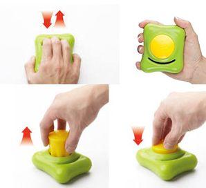 Zestaw do ćwiczeń dłoni Gripbuddy jest rozwiązaniem składającym się z bazy oraz kulki. Dzięki unikalnemu kształtowi może być stosowany do różnorodnych treningów – chwytania, ściskania, rozciągania, czy też ściskania palcami. Może być również używany do treningu lub wzmacniania mięśni dłoni, a także zginaczy i prostowników palców, jak również do poprawy koordynacji ręki oraz siły poszczególnych stawów. Dostępne na www.OrtoModa.pl