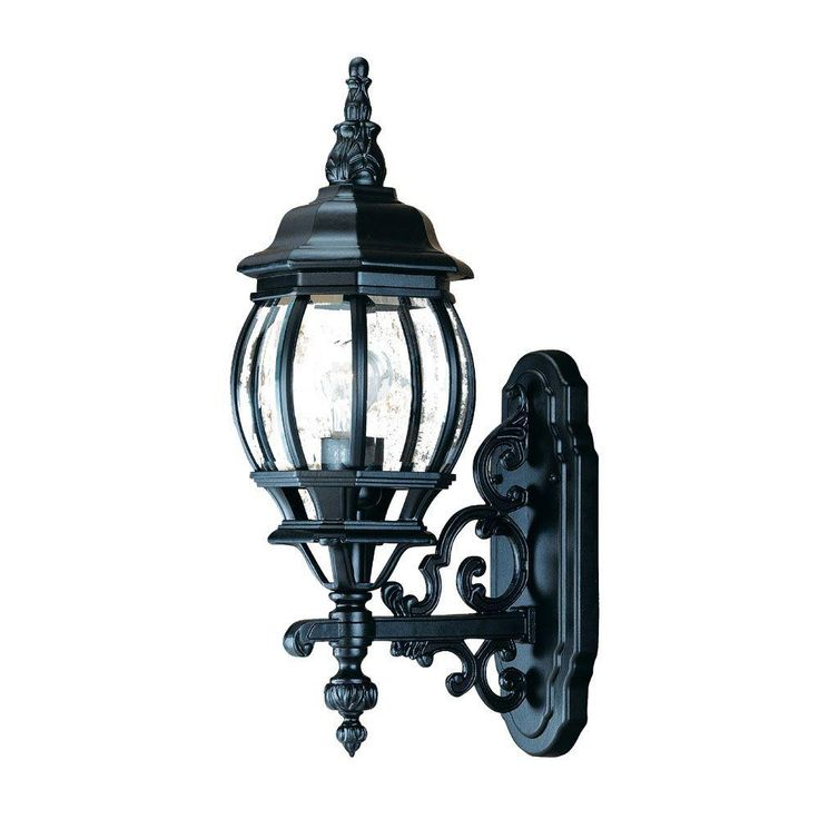 55 best outdoor lights images on pinterest lanterns exterior chateau collection 1 light matte black outdoor wall mount light fixture mozeypictures Choice Image