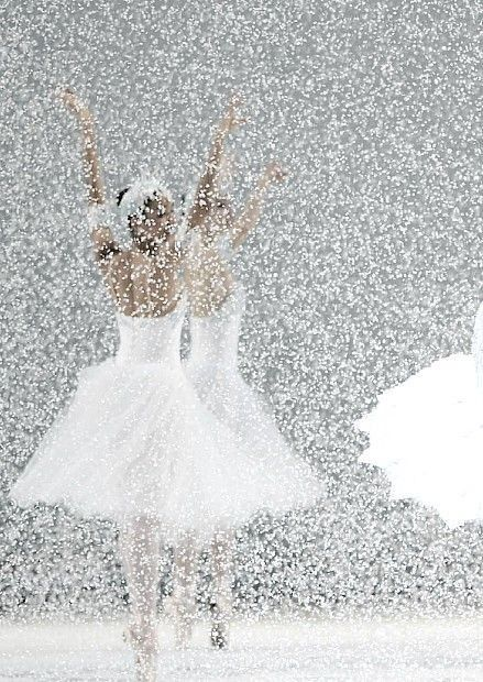 Dance of the Snowflakes, from The Nutcracker? Beautiful. This is by far the heaviest onstage snowfall effect I've ever seen.