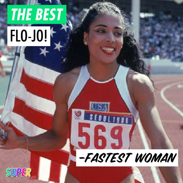 DEC. 21ST: #HappyBirthday to the fastest woman of all time, Flo-Jo!   Florence Joyner was an American track and field athlete! She is considered the fastest woman of all time based on the fact that the world records she set in 1988 for both the 100 m and 200 m still stand and have yet to be seriously challenged.  #WomenCanDoAnything #WomenRock #FloJo #Run #trackandfield