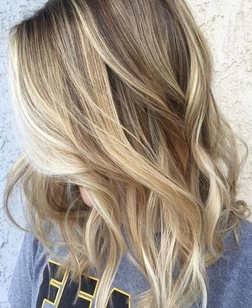 Elegant Assorted Blonde Toned Highlights with Natural Mid Tones Against Darker Neutral Base Blonde Short Hairstyle 2017 Trends