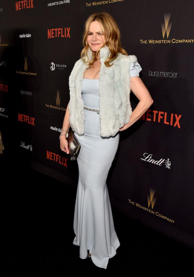 Jennifer Jason Leigh at the Weinstein Co. & Netflix Golden Globes after party