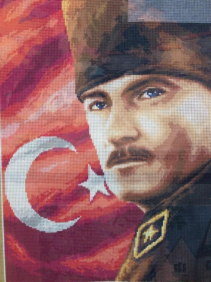 Yeni Atatürk Goblenimiz.Bitmiş halide yakında Web Sitemizde ve Facebookta... #www.GoblenHome.com - #www.GoblenHome.net