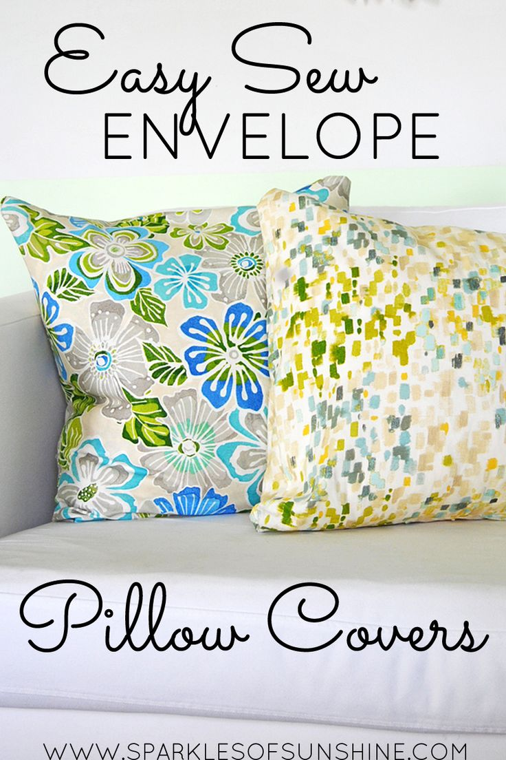 Learn how easy it is to make envelope pillow covers for your home with this simple tutorial.