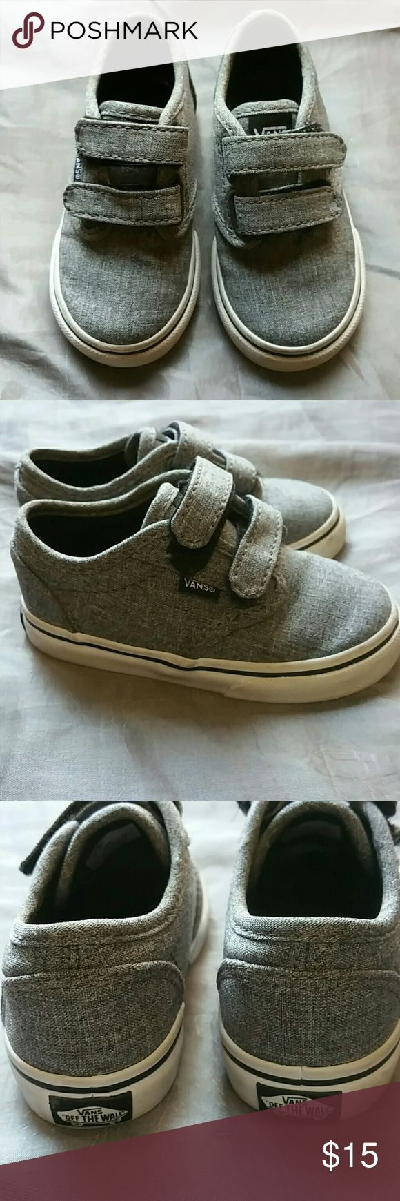 Grey vans size 6.5 with two velcro straps Grey vans size 6.5 with two velcro straps. Please see photos for more details and feel free to ask any questions that you may have Vans Shoes Sneakers