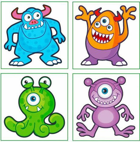 Childrens MONSTER Temporary Tattoos - Party Bag or Pinata Fillers/Toys/Favours | eBay