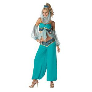 Arabian Harem Jewel costume is a must have for any international party or Disney party. Perfect as a harem costume, Arabian costume, Jasmine costume and Disney costume! Buy Arabian Jewel costume now.