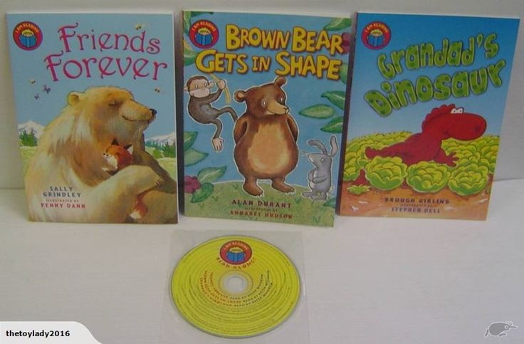 Auction is for as per photo    Forever friends and Grandad's Dinosaur and Brownish Bear gets in shape  Plus CD  Includes CD with read along versions of each sto...