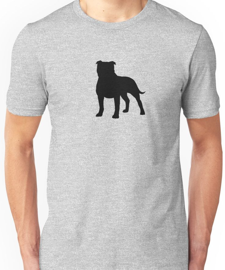 Staffordshire Bull Terrier Silhouette(s) Unisex T-Shirt