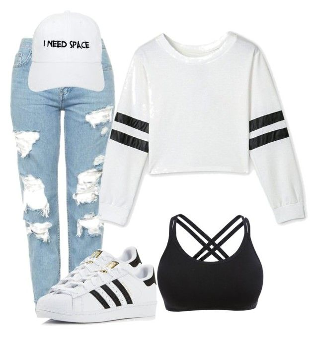 """""""Need space"""" by misspooh6633 on Polyvore featuring Topshop, adidas and Nasaseasons"""