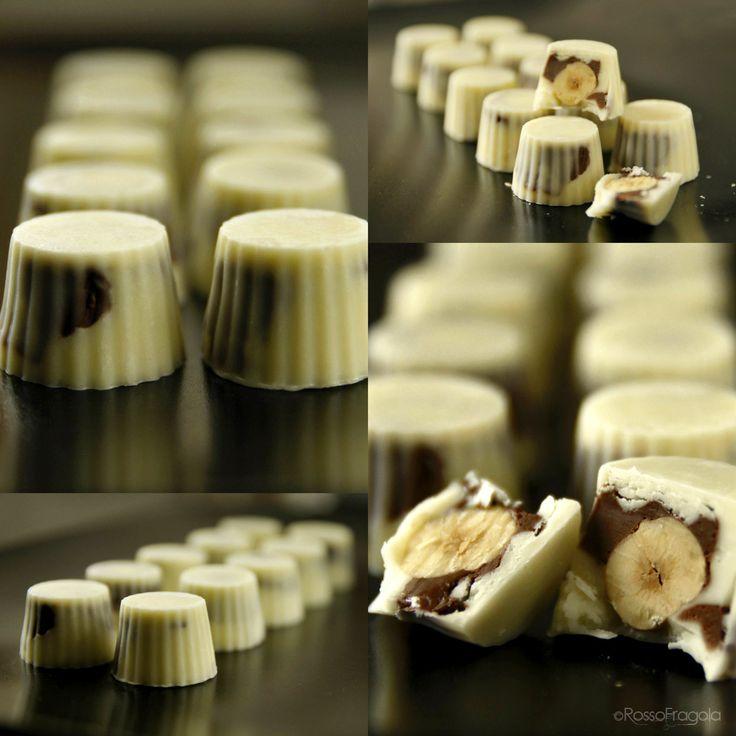 Nocciolotti - cioccolatini con nocciole e nutella - ROSSO FRAGOLA