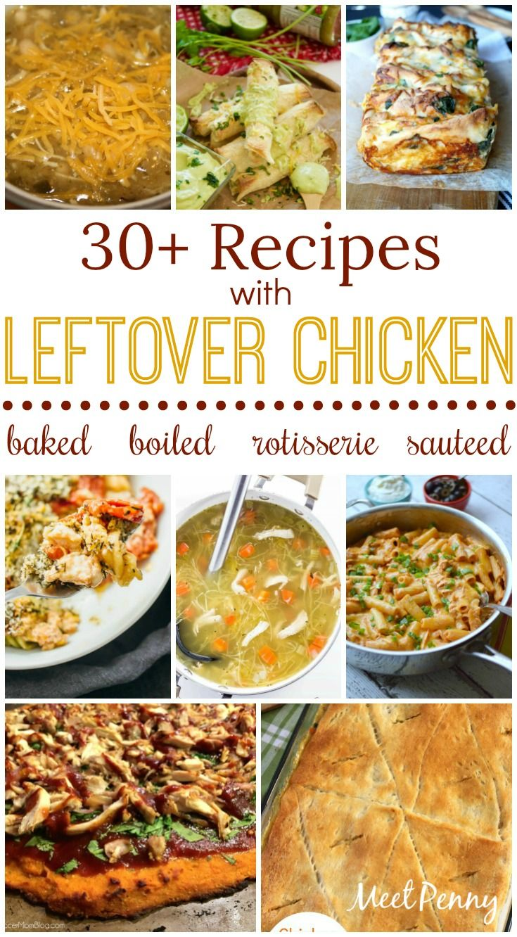 What can you make with leftover chicken? Whether boiled, baked, sautéed, or rotisserie, these leftover chicken recipes are sure to please.