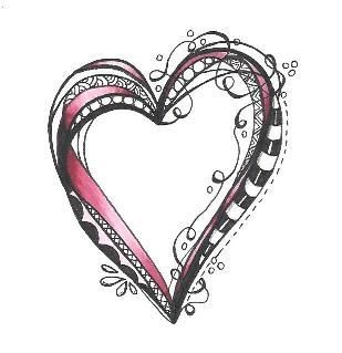 Penmark Patterns | Valentine Heart Zentangle Class