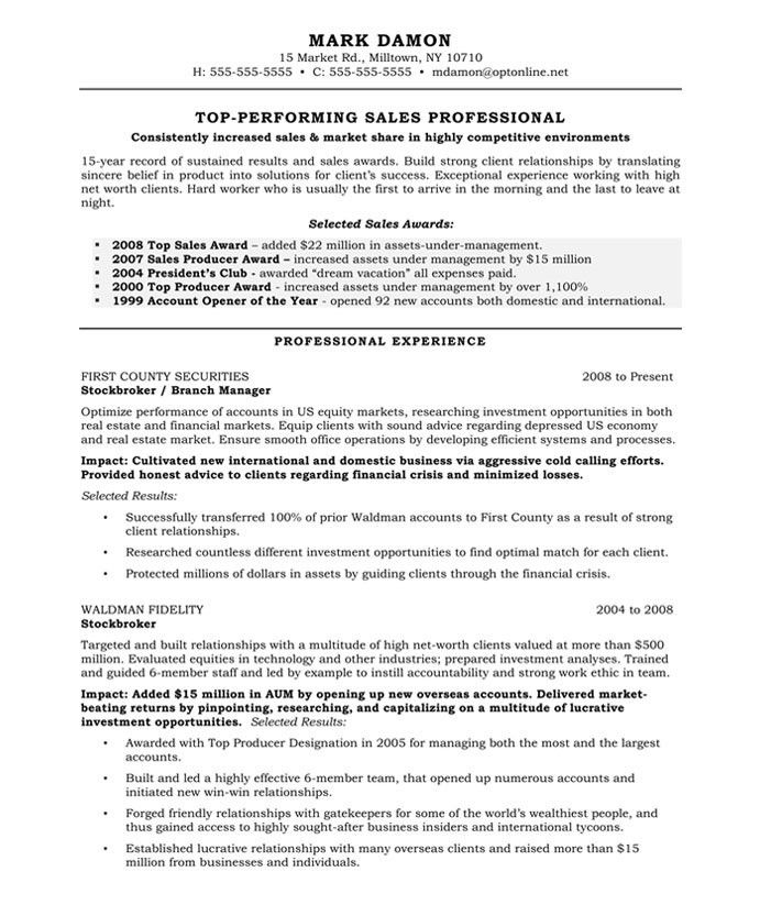 Financial services marketing resume – Sample Resume for Financial Service Representative