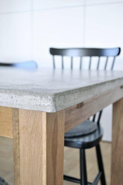 Ett material som jag är väldigt förtjust i är betong. Jag gillar främst den råa och industriella känslan som betongen ger och det gör sig allra bäst i kombination med trä, gröna växter och mjukaste fårskinn.