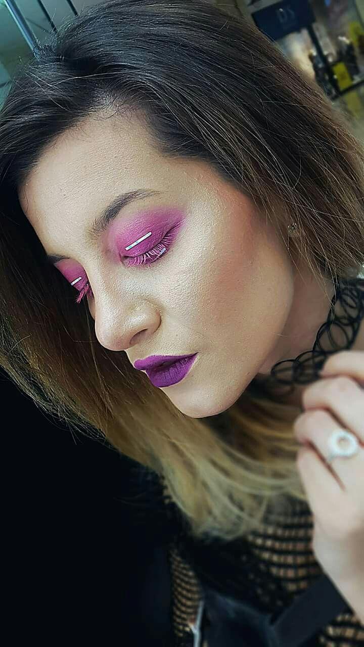 Pink makeup Pink eye Mac Cosmetics