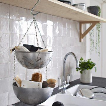 Un rangement récup' dans la cuisine - Marie Claire Idées