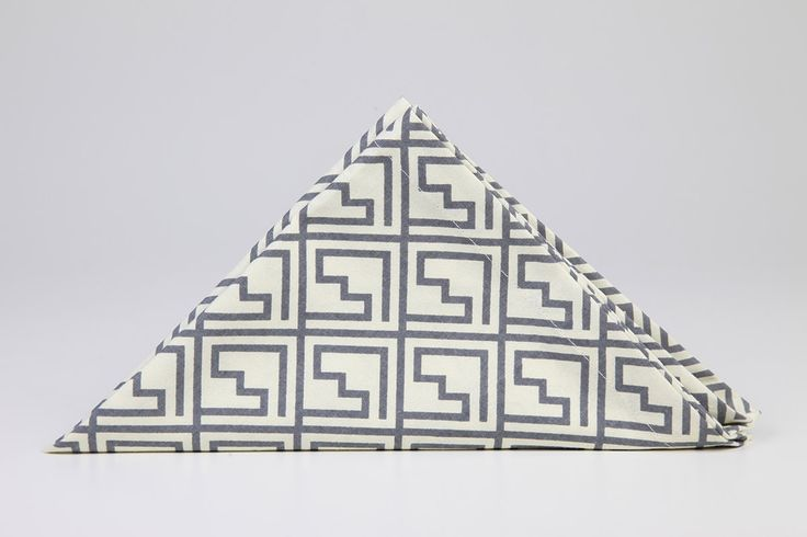 Greek Key Napkins by Suraaj Linens