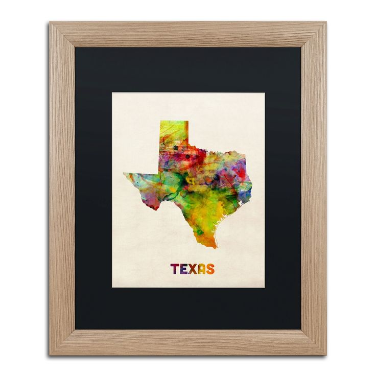 Map Of Oregon State Fairgrounds%0A Texas Map by Michael Tompsett Framed Graphic Art