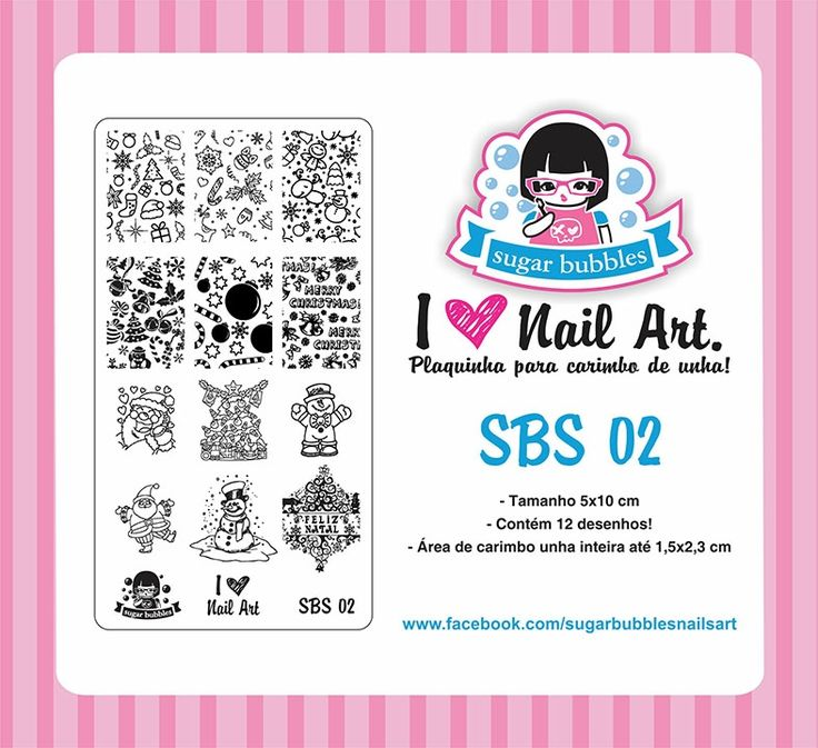Small Nail Art Stamping Plate Sugar Bubbles SBS 02