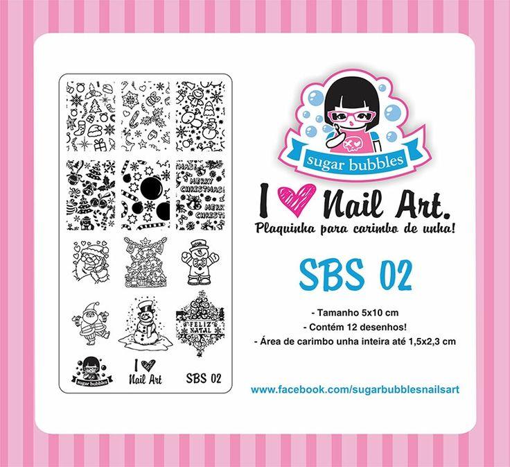 Small Nail Art Stamping Plate Sugar Bubbles SBS 02