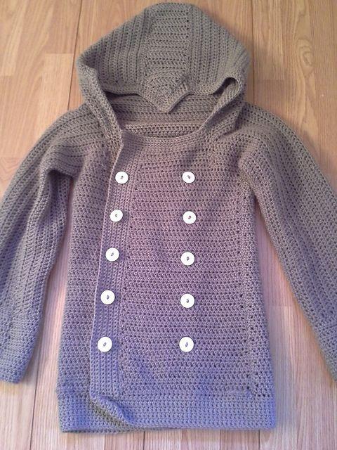 Free Gamer Jacket pattern by Brandi Isham #crochet sweater adult #crochet sweater child