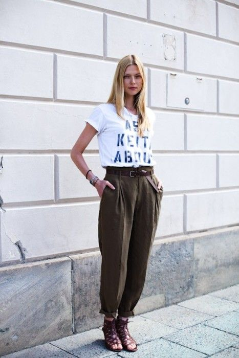 beautiful billowy pants #fashion #streetstyle