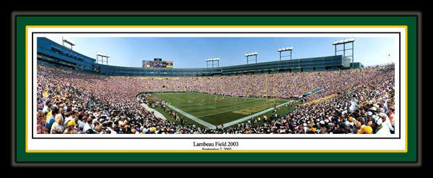 Green Bay Packers poster The renovated Lambeau Field in 2003 Green Bay Packers vs. Minnesota Vikings. #TheBays #CheeseHeads #NewAndImproved