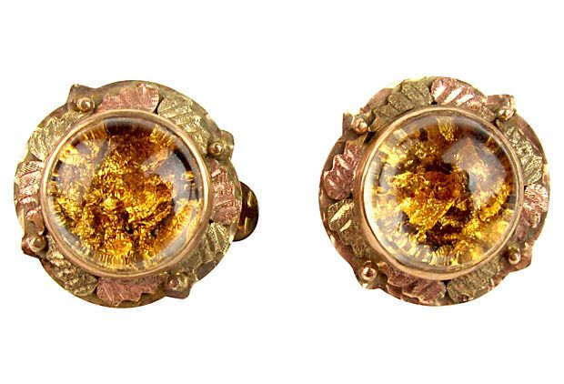 Cripple Creek Gold Flake Earrings on OneKingsLanecom Jewelry