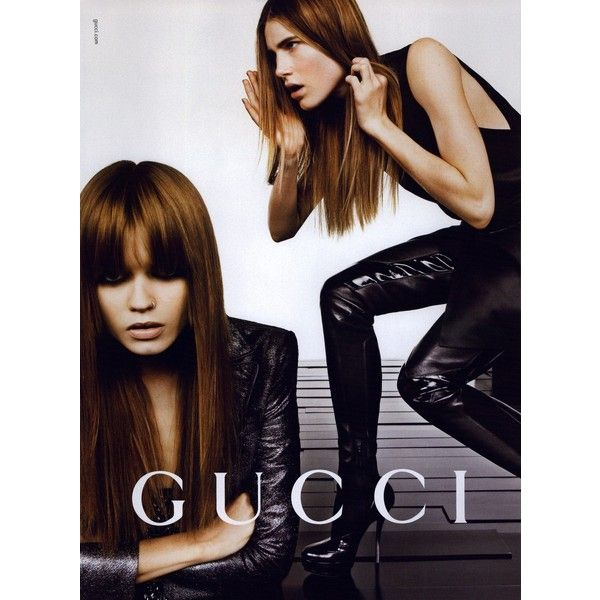 Gucci Ad Campaign Fall/Winter 2009 Shot #14 ❤ liked on Polyvore featuring abbey lee kershaw, ad campaign, dree hemingway, emmanuelle alt, gucci, inez van lamsweerde and vinoodh matadin