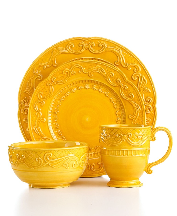 fitz and floyd dinnerware ricamo gold 4 piece place setting casual dinnerware dining