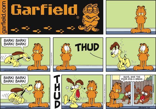 Garfield by Jim Davis Sunday, July 20, 2014                                                                                                               A classic!