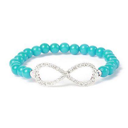 Rhinestone Infinity Symbol Beaded Stretch Bracelet | Claires