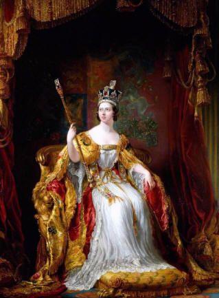 Victoria Alexandrina di Hannover (Kensington Palace, 24 maggio 1819 - Isola di Wight, 22 gennaio 1901) fu Regina di Gran Bretagna e Irlanda per 64 anni, dal 1837 al 1901, e Imperatrice delle Indie dal 1876 alla morte, oltre ad essere riconosciuta come sovrana da Canada, Australia, Sudafrica e numerose isole.  http://voxcalantisindeserto.blogspot.it/2012/03/la-regina-vittoria-e-limpero-britannico.html