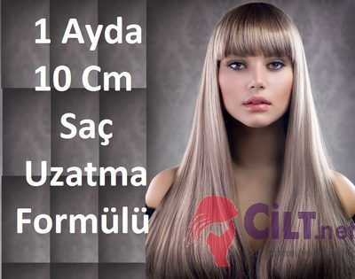 1 Ayda 10 Cm Saç Uzatma Formülü: 5 günde bir uygulanan saç uzatma formülü sayesinde 1 ayda saçlar 10 cm uzuyor.