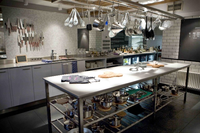 The prep kitchen...at The Kitchen