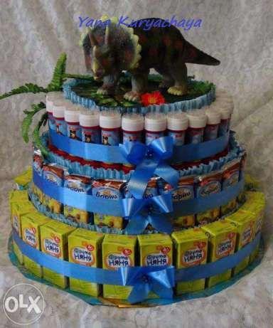 Торт из соков и конфет для школы/детсада Вышгород - изображение 4
