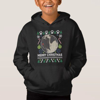 Bull Mastiff Dog Breed Ugly Christmas Sweater - dog puppy dogs doggy pup hound love pet best friend
