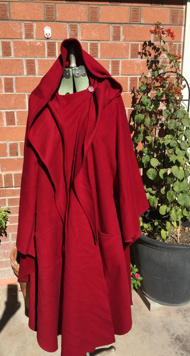 Vintage 'Hourihan' Made in Ireland Red Cape | Poncho | Shawl | Red Hood | Wrap | Cashmere | New Wool by VampRodeoVintage on Etsy