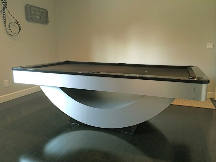 """Golden West """"Reverse Rainbow"""" pool table recently installed in Portland Oregon. Golden West has the most diverse line of Contemporary and Modern pool tables in the industry. Available in different Sizes, Materials, and Finishes. AMERICAN BUILT and PROUD of it!"""