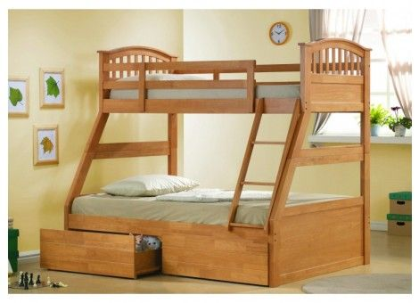 joseph maple three sleeper bunk bed 1