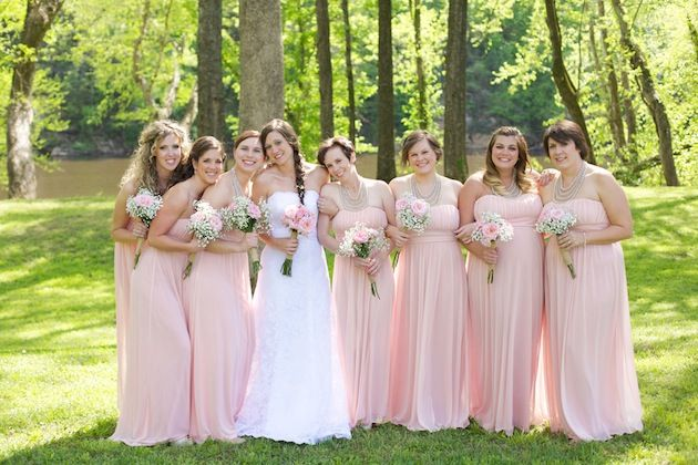 Rustic Pink Wedding: Lace, Burlap & Baby's Breath by Live View Studios featured today on Bridal Musings