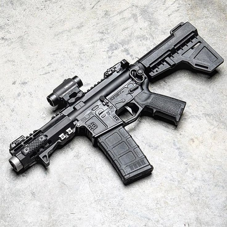 """@slrrifleworks @slrrifleworks_alfredo 's Micro 5.56 thingy. 4"""" barrel with our Linear Comp. compact and lethal. Good for keeping the house safe."""