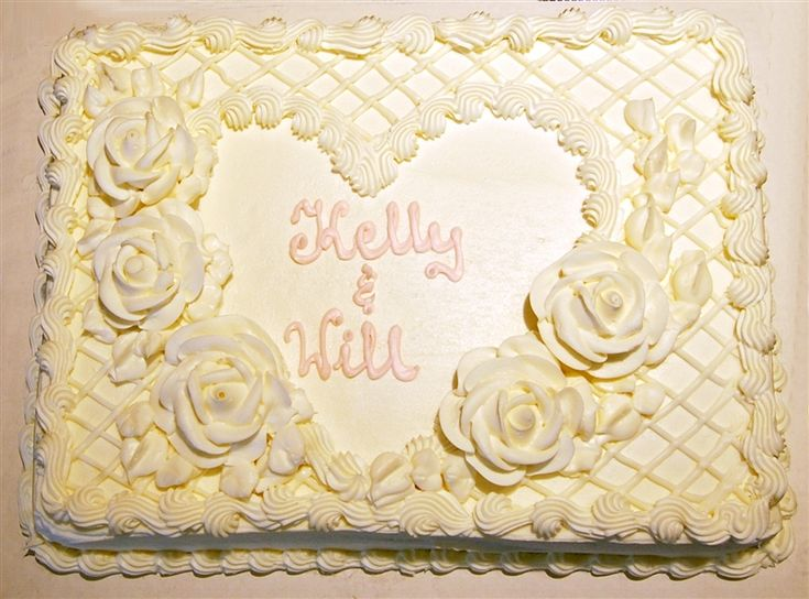 Sheet Cake Designs | the engagement cake was a sheet cake from costco you
